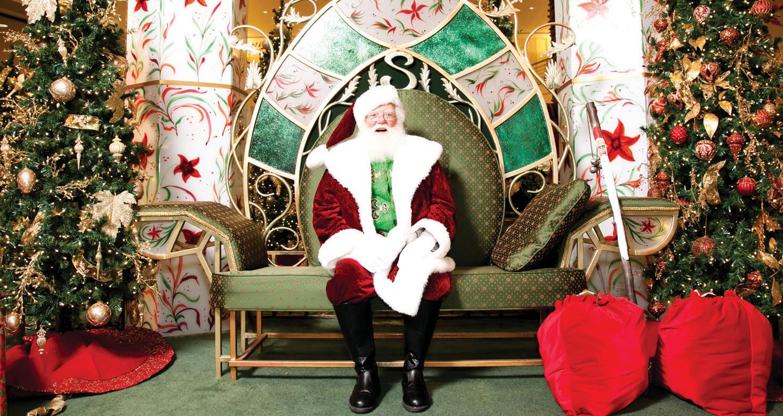 Santa in His Enchanted Garden