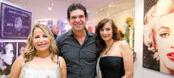 Debra Onessimo David Ferreira And Mara Zia At One Of Fine Art S Recent Pop