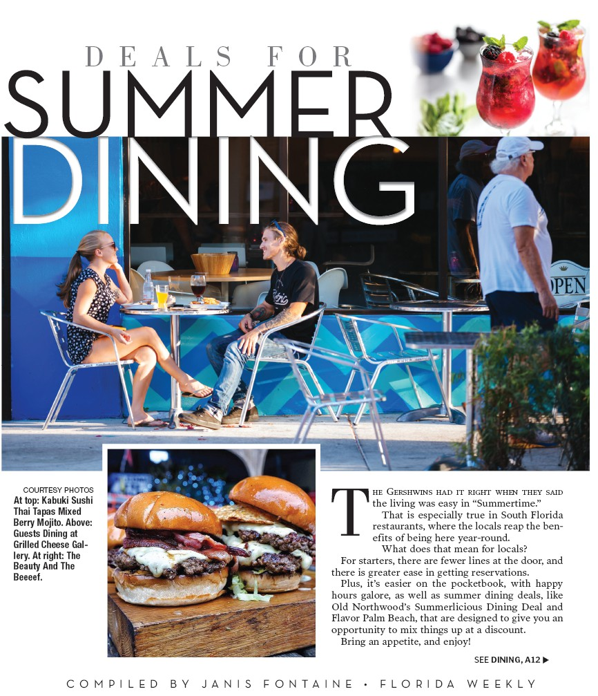 DEALS FOR SUMMER DINING | Palm Beach Florida Weekly